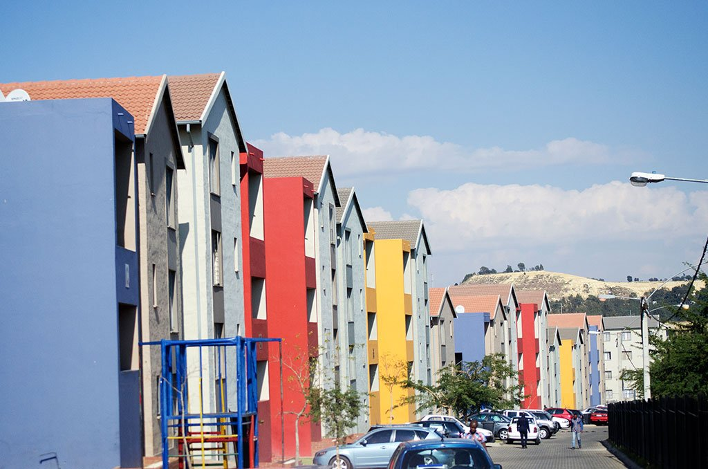 Fleurhof Views colourful housing